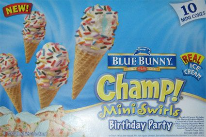 blue bunny birthday cake ice cream cones Ok before we begin what