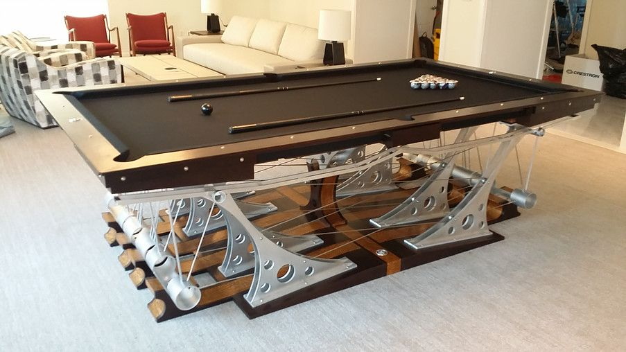 The Force 12 Is A Unique Custom Pool Table Made With Aluminum, Stainless  Steel,