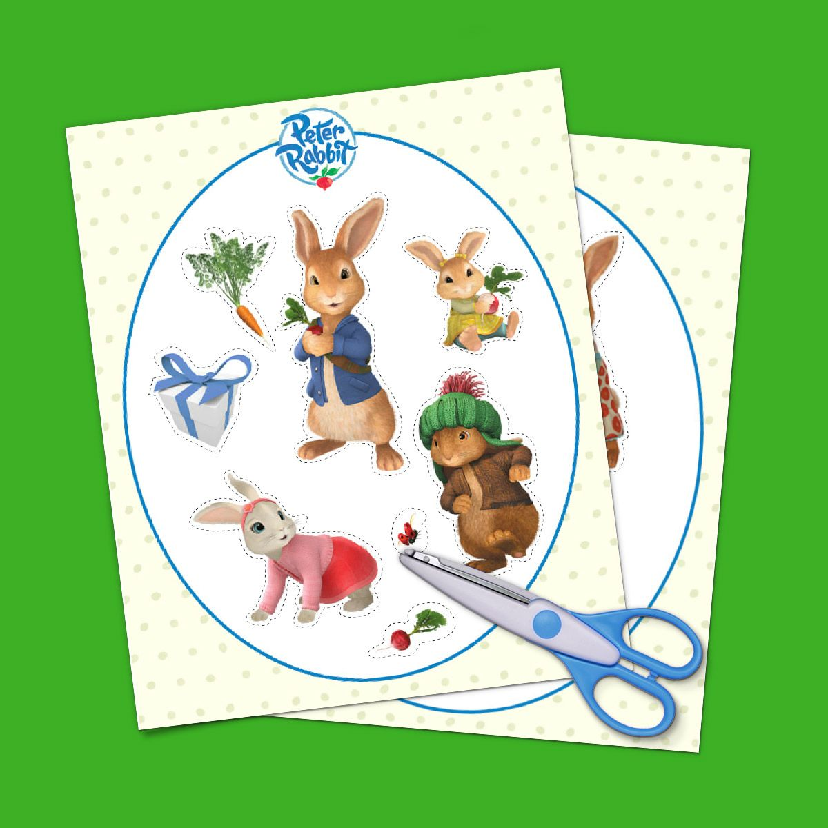 Peter Rabbit Birthday Party Goody Bag Stickers