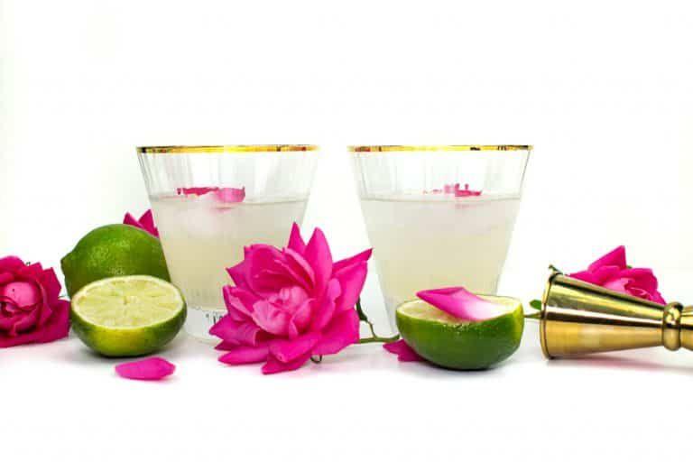 Elderflower Rose Gimlet Cocktail Recipe » Feast + West