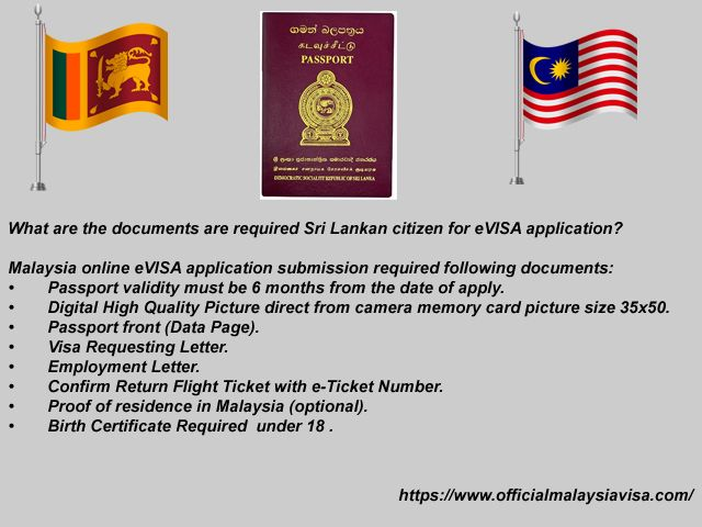 Malaysia online eVISA application submission required