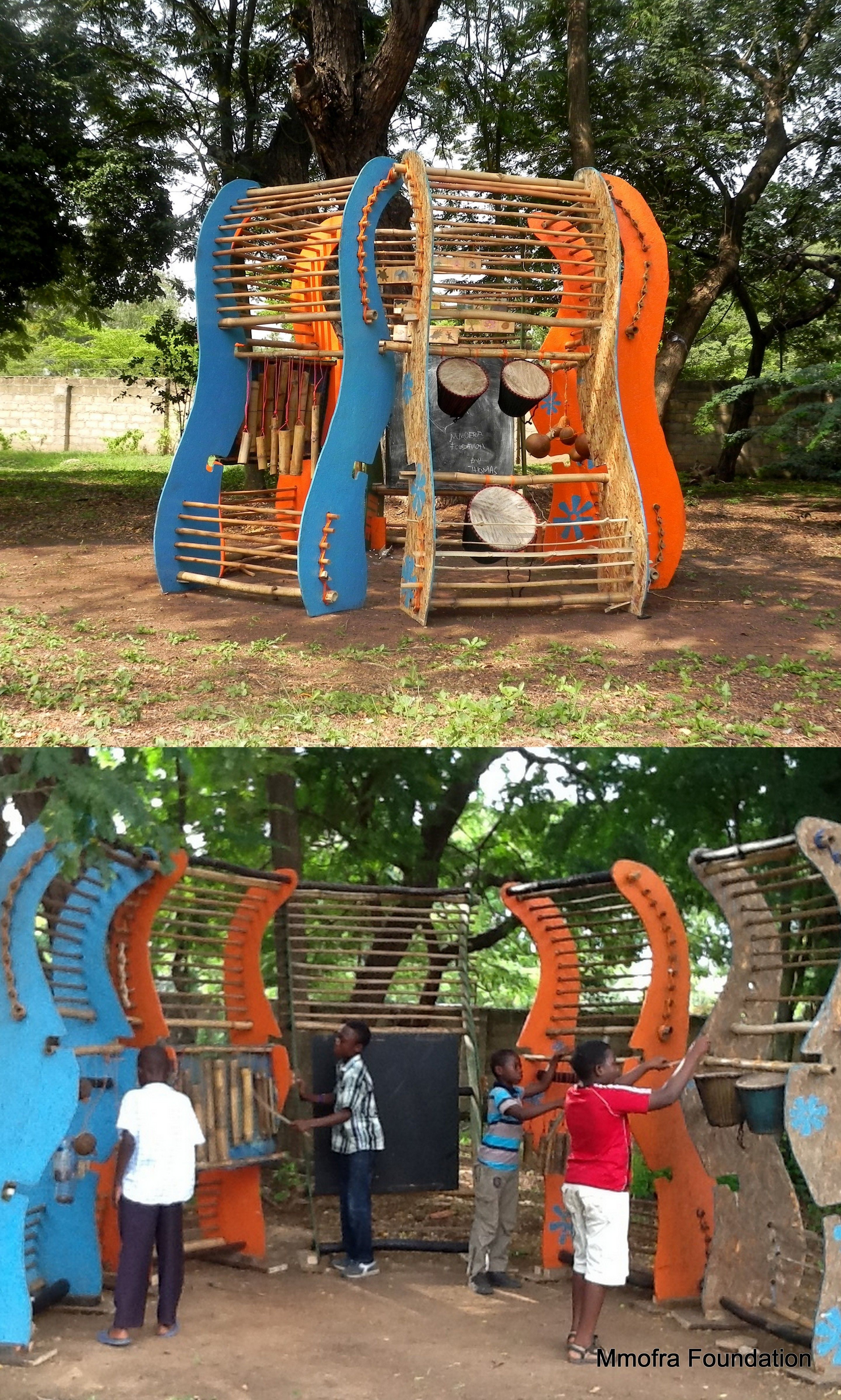 Playful Structures W Accra Ghana Mmofra Foundation Kids Play Equipment Play Furniture Outdoor Classroom