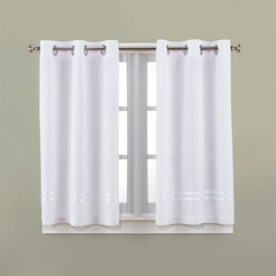 white bathroom window curtains hookless 174 escape 45 inch bath window curtain panels in 21491