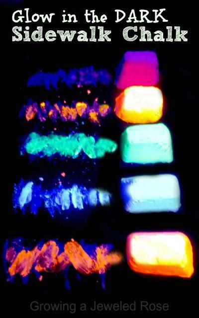 Glow In The Dark Chalk Summer Diy Summer Fun Crafts