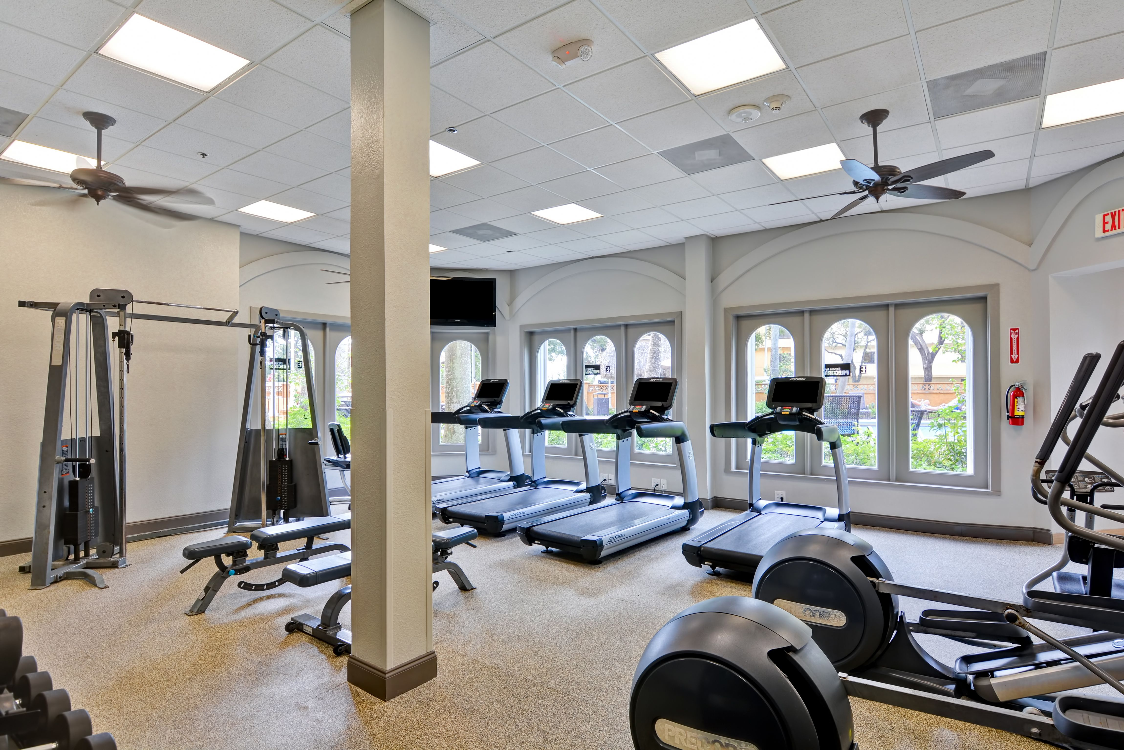 Updated Fitness Center Suites Embassy Suites Airport Hotel