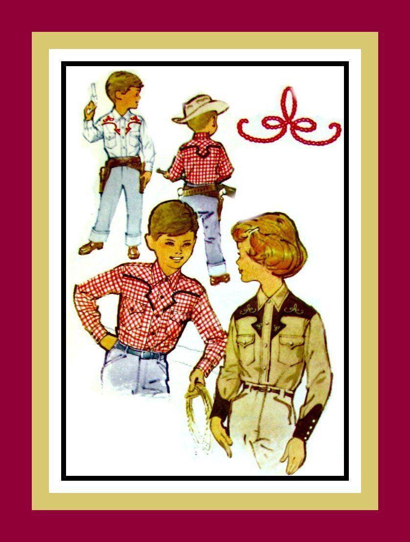 Vintage buckaroo western shirtstoddler boyusgirlussewing