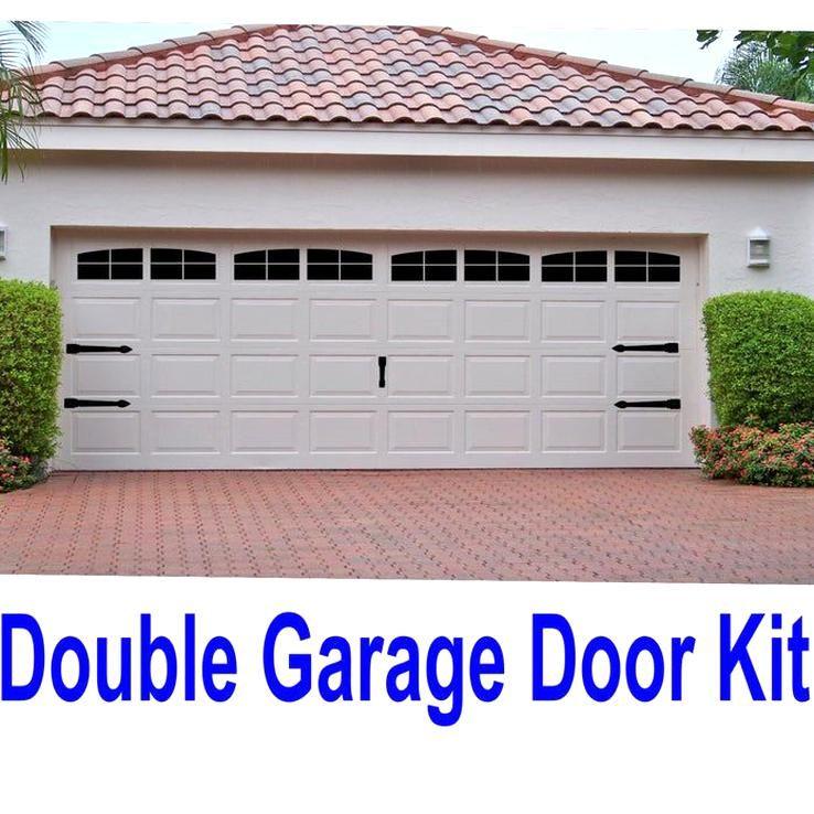 Carriage House Style Vinyl Garage Door Decal Kit Faux Windows Etsy In 2020 Garage Doors Vinyl Garage Doors Garage Door Styles