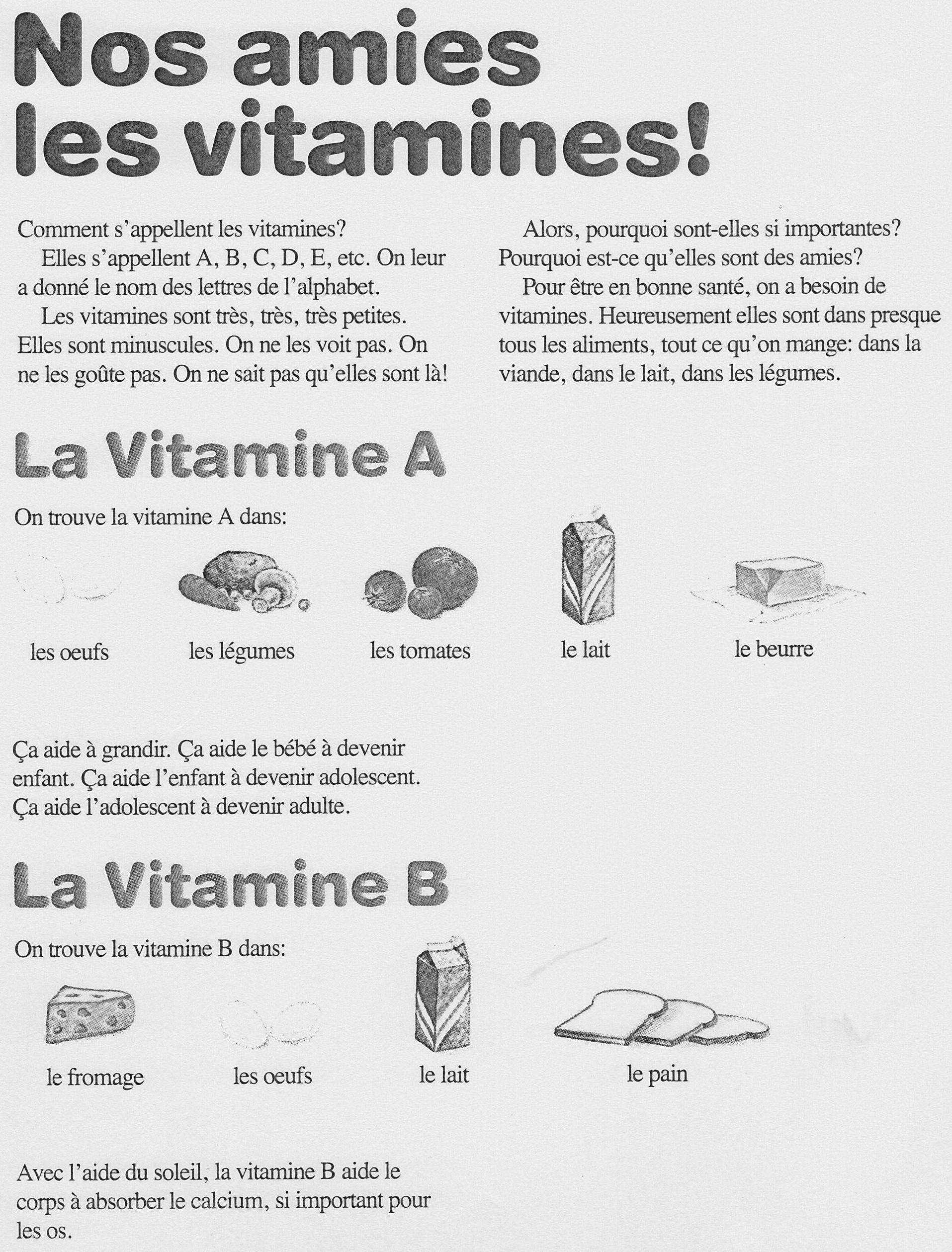 Vitamines 1 2