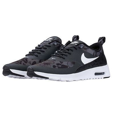 Nike Air Max Thea SE Gs Kids 820244-001 Black Butterfly Print Shoes Youth Sz
