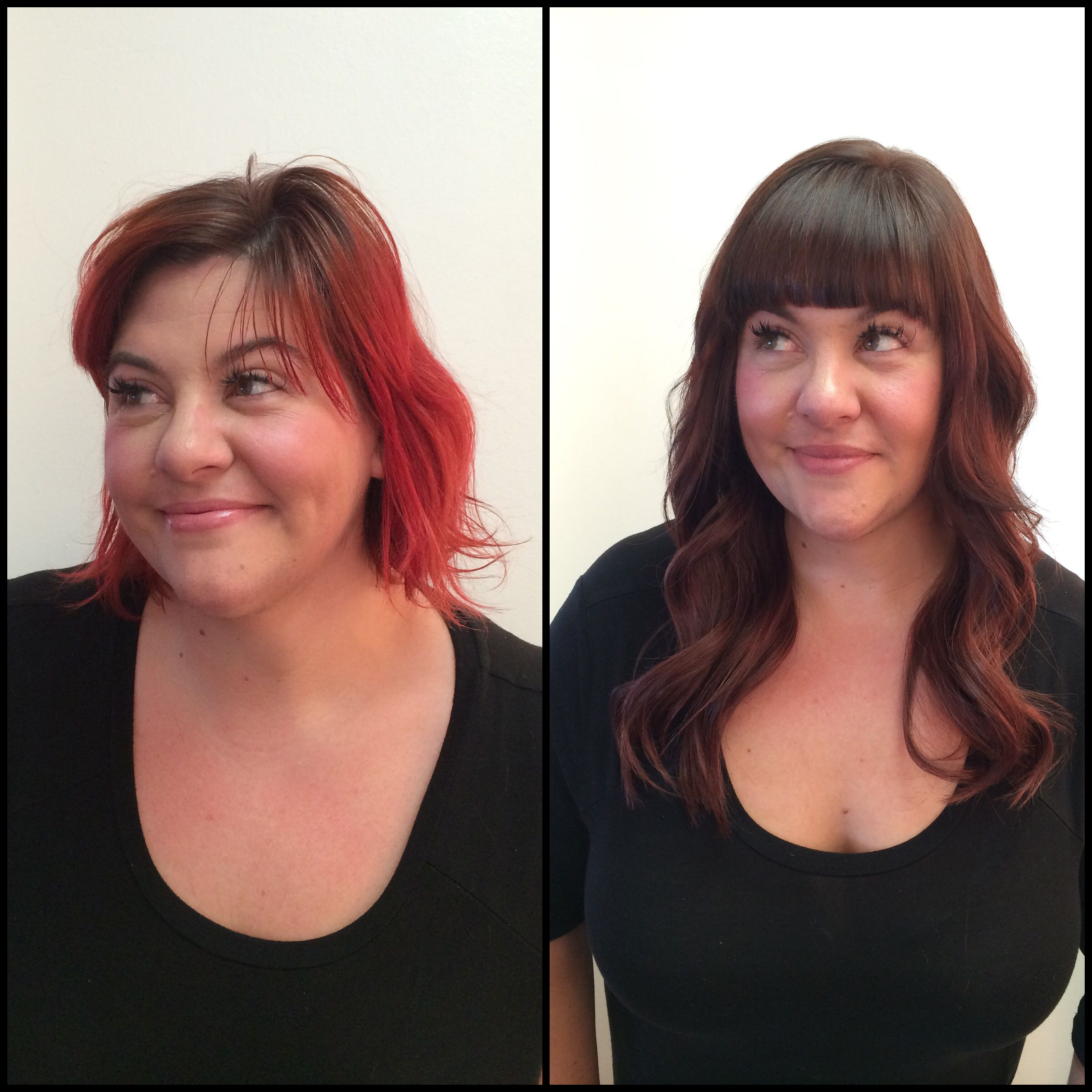 14 16 Inch Hot Heads Hair Extensions Love This Transformation Done