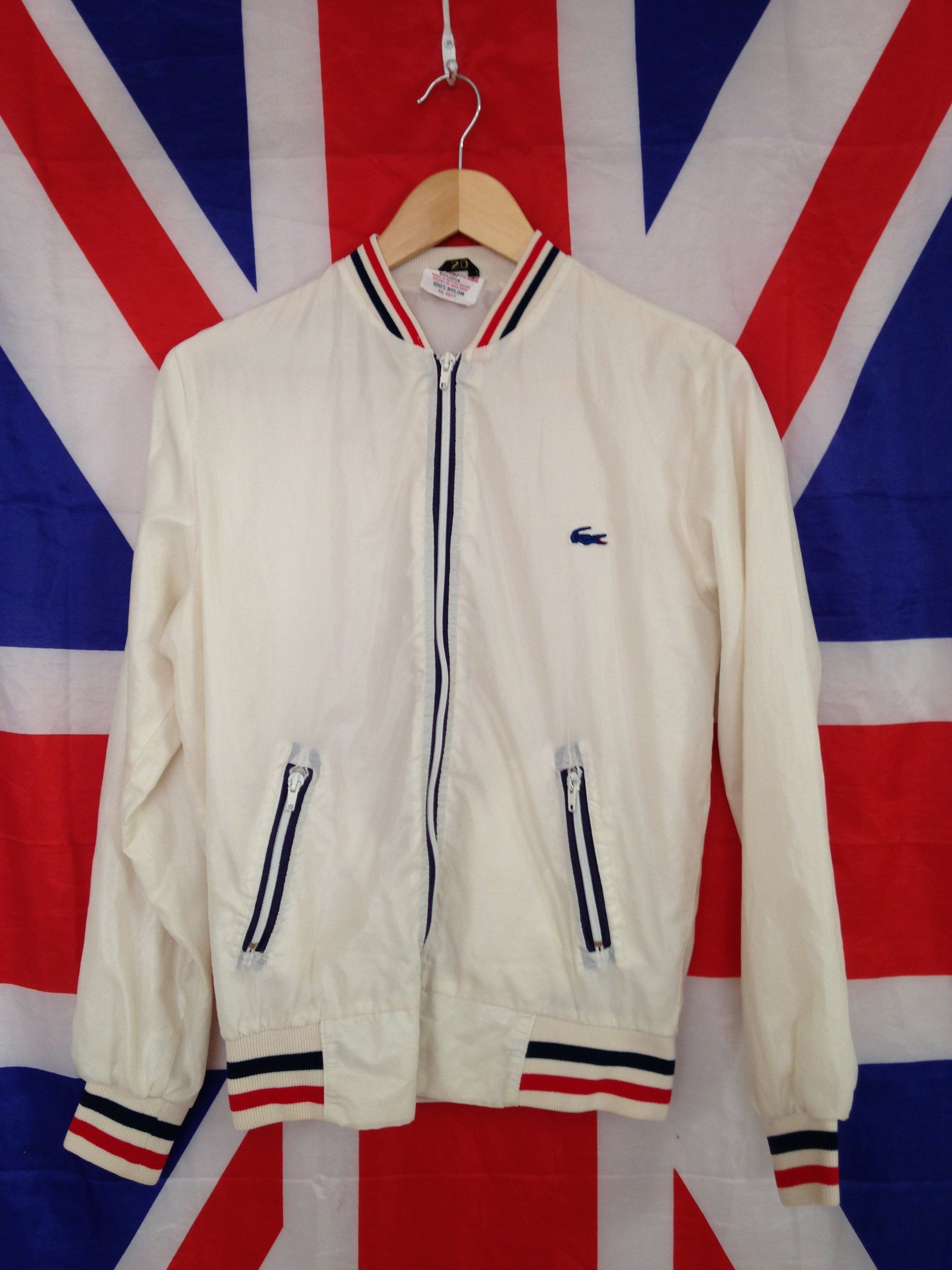 a5211508e08b 80s VINTAGE LACOSTE SHIMMER BOMBER JACKET. REALLY RARE DESIGN IN A SKINNY  XS FIT. TAG READS 20 BUT BEST SUITED FOR A 34 36  CHEST STANDARD XS.