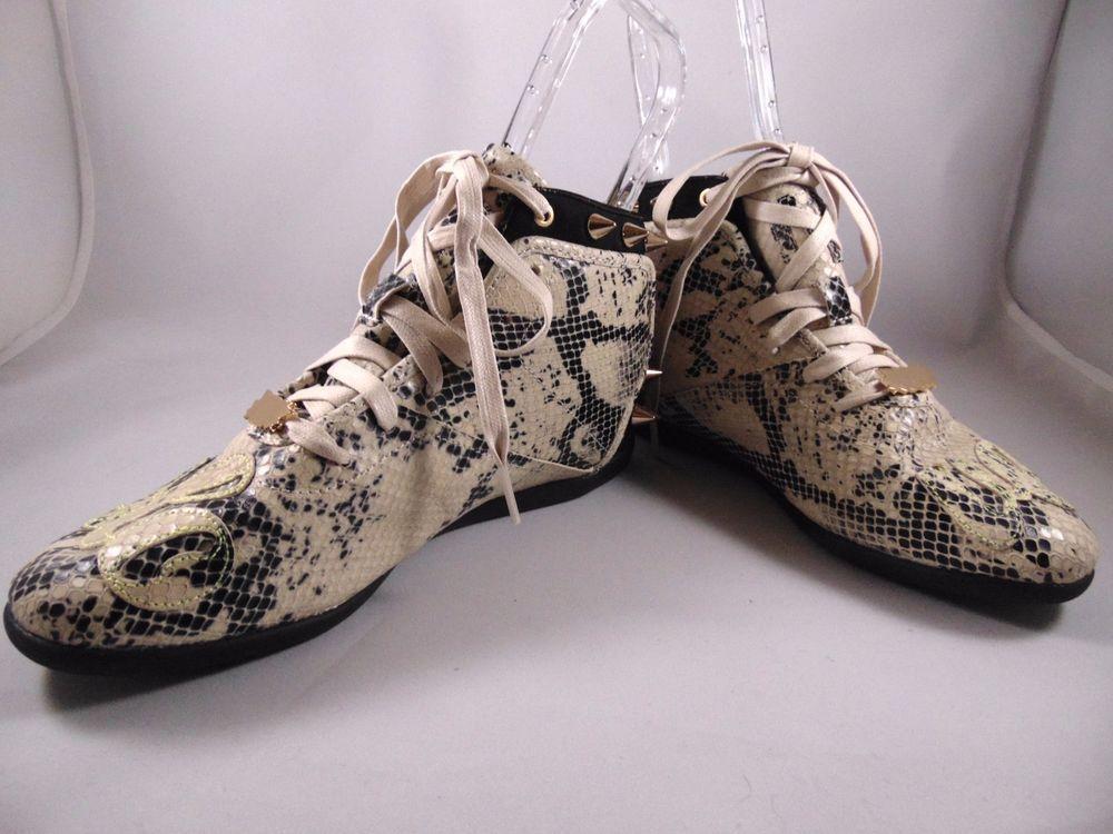 40400f2865d Melody Ehsani Reebok Reptile print Spike Hi top Sneakers Size 8  Reebok   LaceUps  Reptile  MelodyEhsani