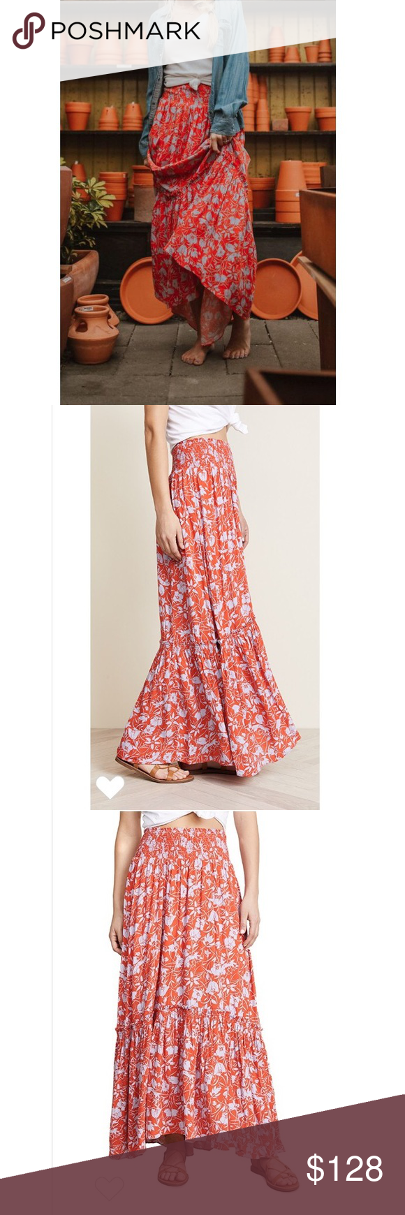 fd5923d325 Free People Way Of The Wind Skirt Breezy maxi skirt featuring a festive  floral print,