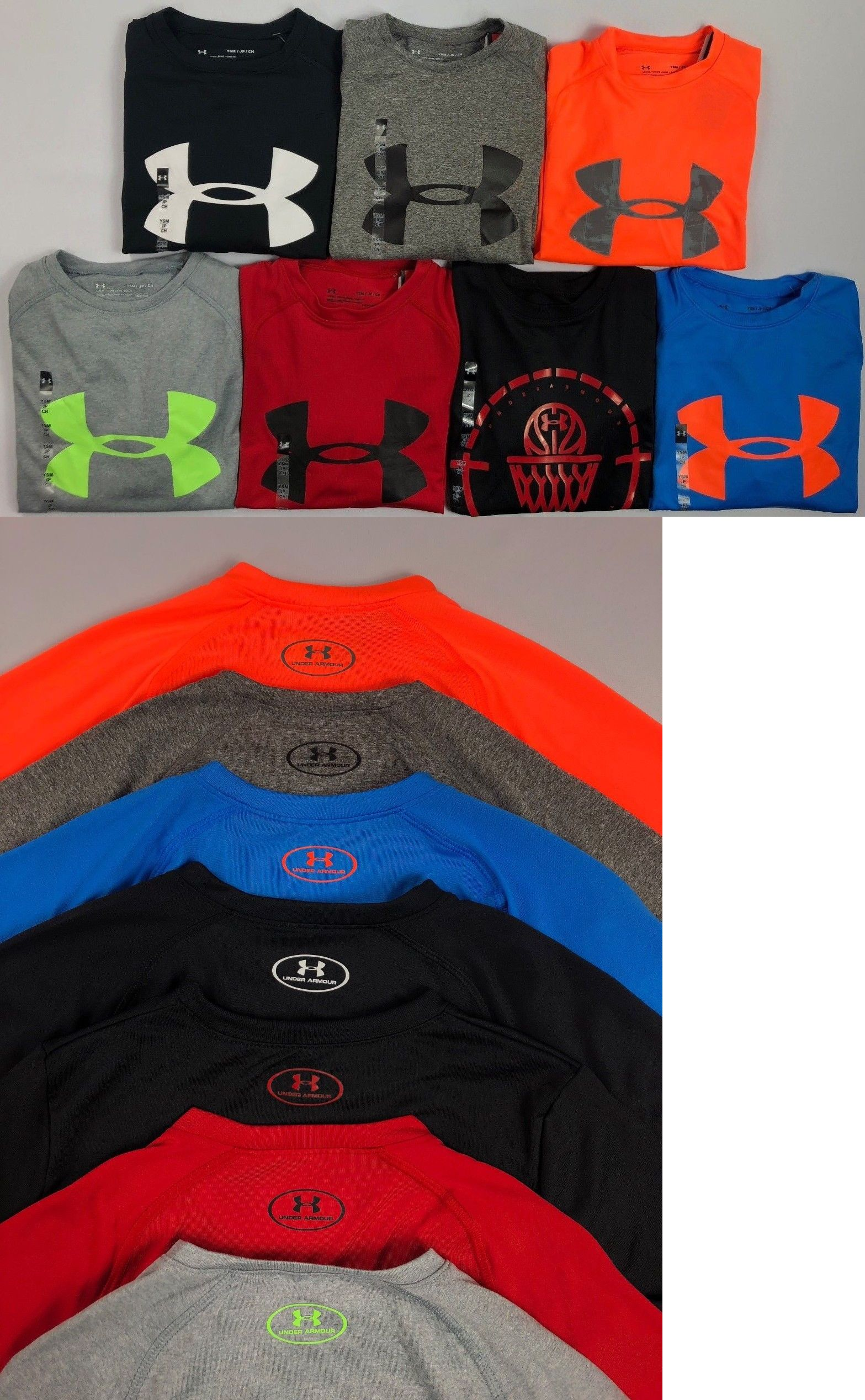 Boy/'s Youth Under Armour Loose Fit Polyester Heatgear Long Sleeve Shirt