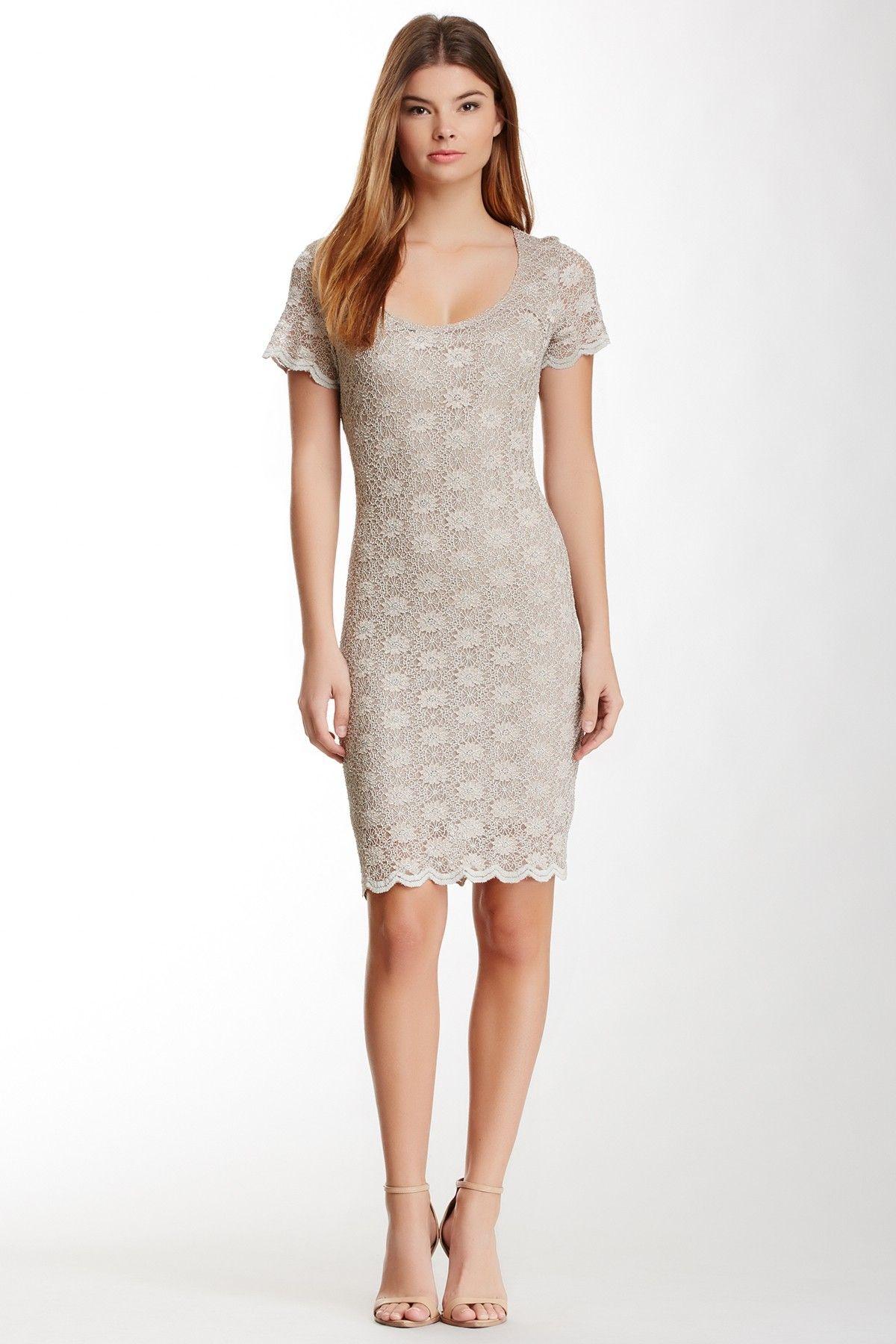 Tiana B Short Sleeve Lace Dress Fashion Beauty To Every Day