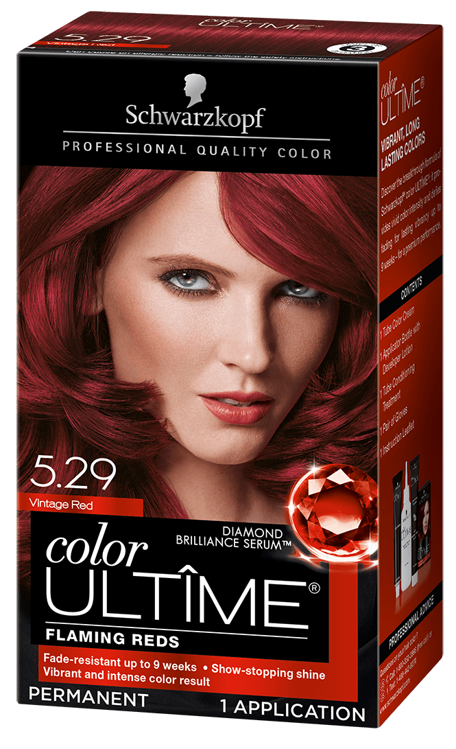 Vintage Red Ruby Red In 2020 Schwarzkopf Hair Color Hair Color Intense Colors