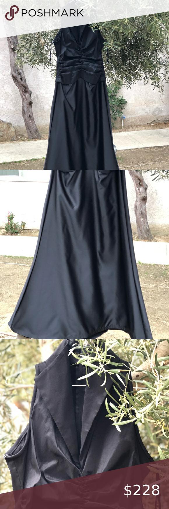 Nwot Tadashi Shoji Black Dress Front Gown Size 8 Tadashi Shoji Black Dress Tadashi Black Dress Dresses [ 1740 x 580 Pixel ]