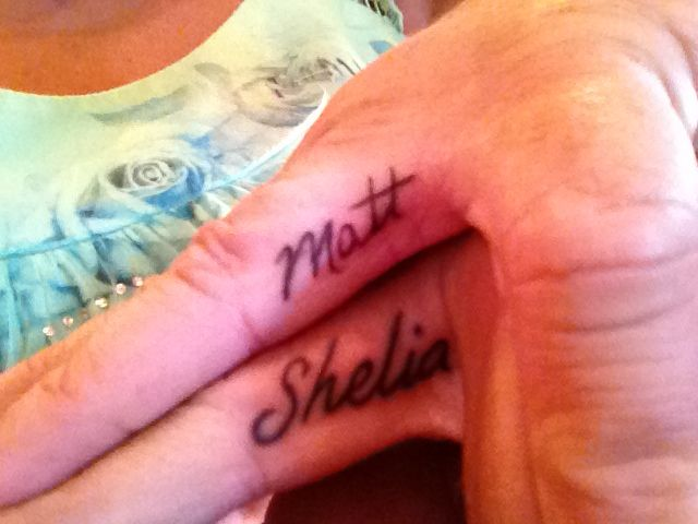 Wedding Ring Finger Tattoos With Each Other S Name Wedding Ring