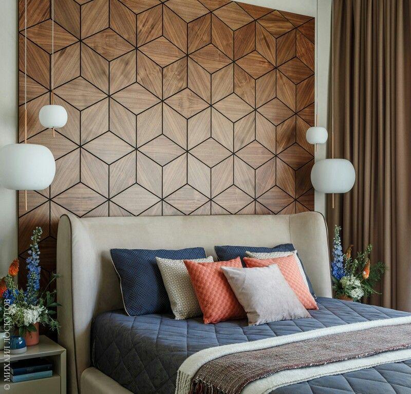 Wood Wall Wooden Panels Headboard Bedhead Bed Design Interior Bedroom Room Derevo Derevyannyj Iz Bedroom Panel New Bedroom Design Bedroom Interior