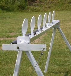 Plate rack marksmanship rifle pistol shooting target practice & Plate rack marksmanship rifle pistol shooting target practice ...