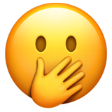 Face With Hand Over Mouth On Apple Ios 11 3 Emoji Emoji Faces Funny Emoji Faces