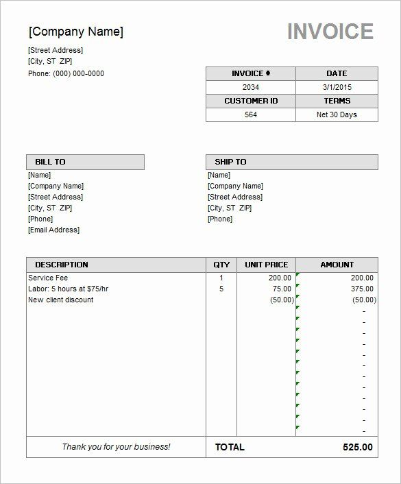 Ms Office Receipt Template Awesome 60 Microsoft Invoice Templates Pdf Doc Excel In 2020 Microsoft Word Invoice Template Invoice Template Word Invoice Template