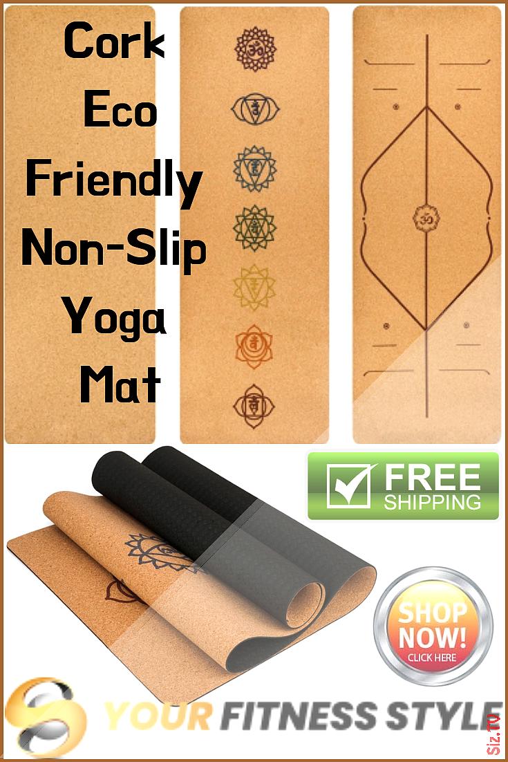 Natural Cork Yoga Mat corkyogamat Durable Organic Cork Yoga Mat For Yoga Pilates Gym And General Fit...