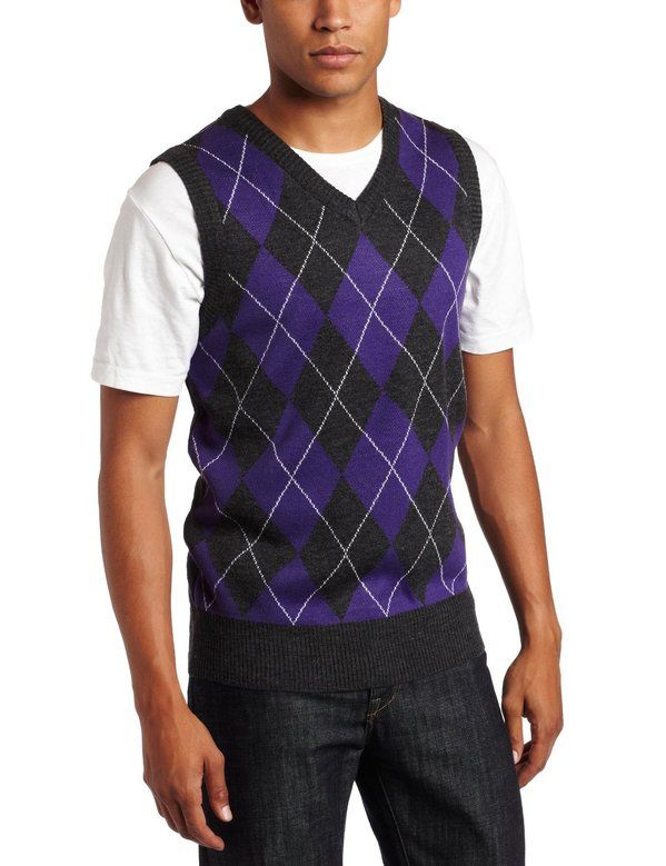 argyle | Southpole Men's Argyle Sweater Vest Purple Black - Peg It ...