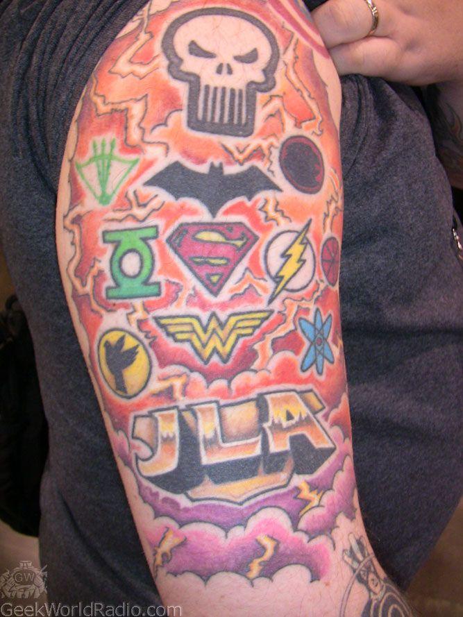 tattoos marvel and dc superhero logos ink pinterest superhero logos tattoo and tatoos. Black Bedroom Furniture Sets. Home Design Ideas