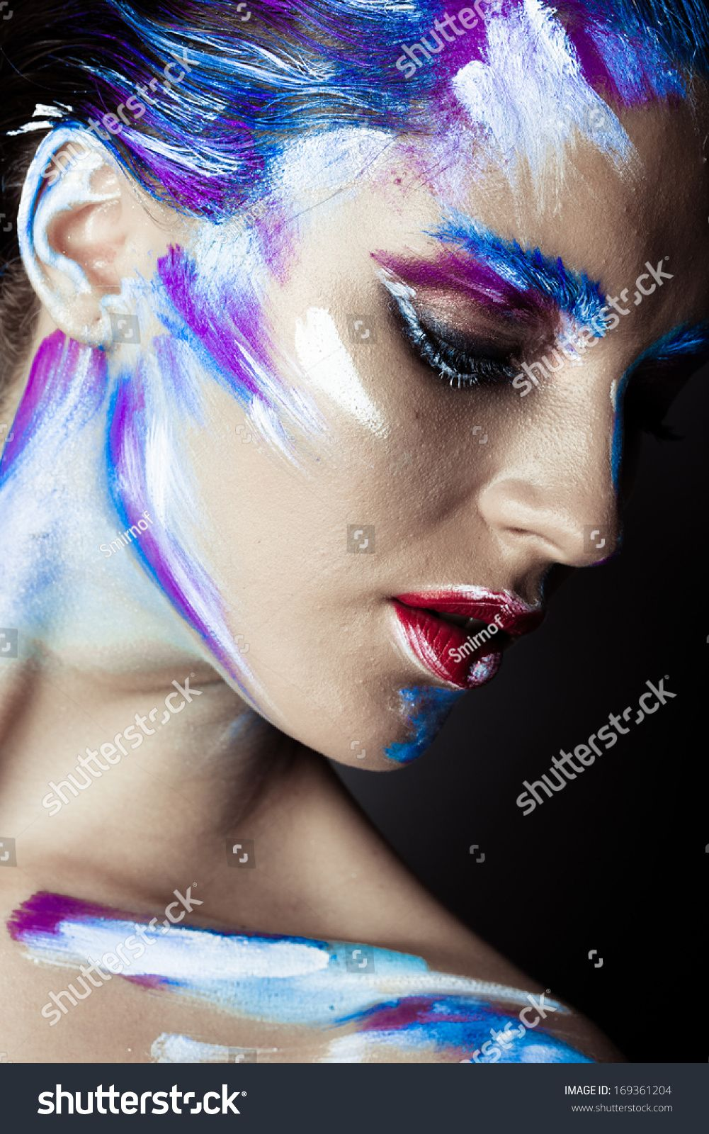 Pin by Whitney Meltz on makeup Abstract face art, Face