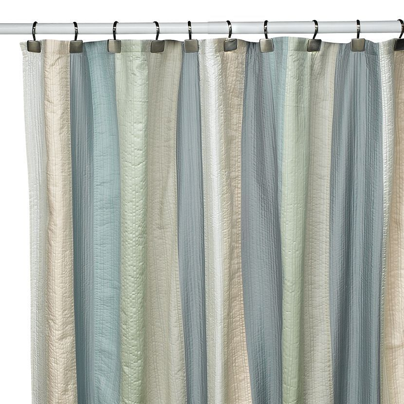 SPA PASTEL DECO BAIN Bed Bath and Beyond Polyester Fabric SHOWER ...