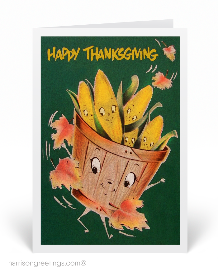 1950s Vintage Thanksgiving Greeting Cards, cute Thanksgiving cards ...