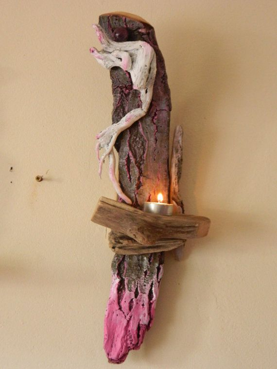 Driftwood Sconce Candle Holder Tea Lighter by DriftwoodArtDesigner £28.00 & Driftwood Sconce Candle Holder Tea Lighter by DriftwoodArtDesigner ...