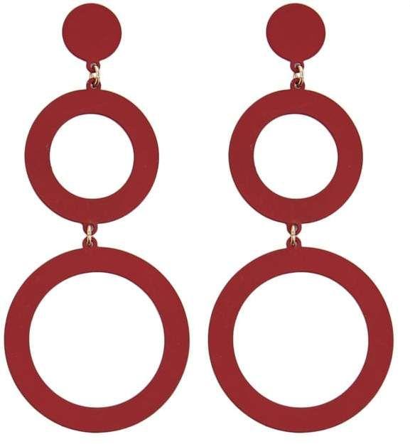 ff5d634076f0d Forever 21  Metal  Hoop  Drop  Earrings! Details A pair of matte metal drop  earrings featuring tiered hoops