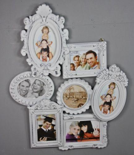 BILDERRAHMEN Collage weiß antik Holz Fotogalerie Rahmen Fotorahmen ...