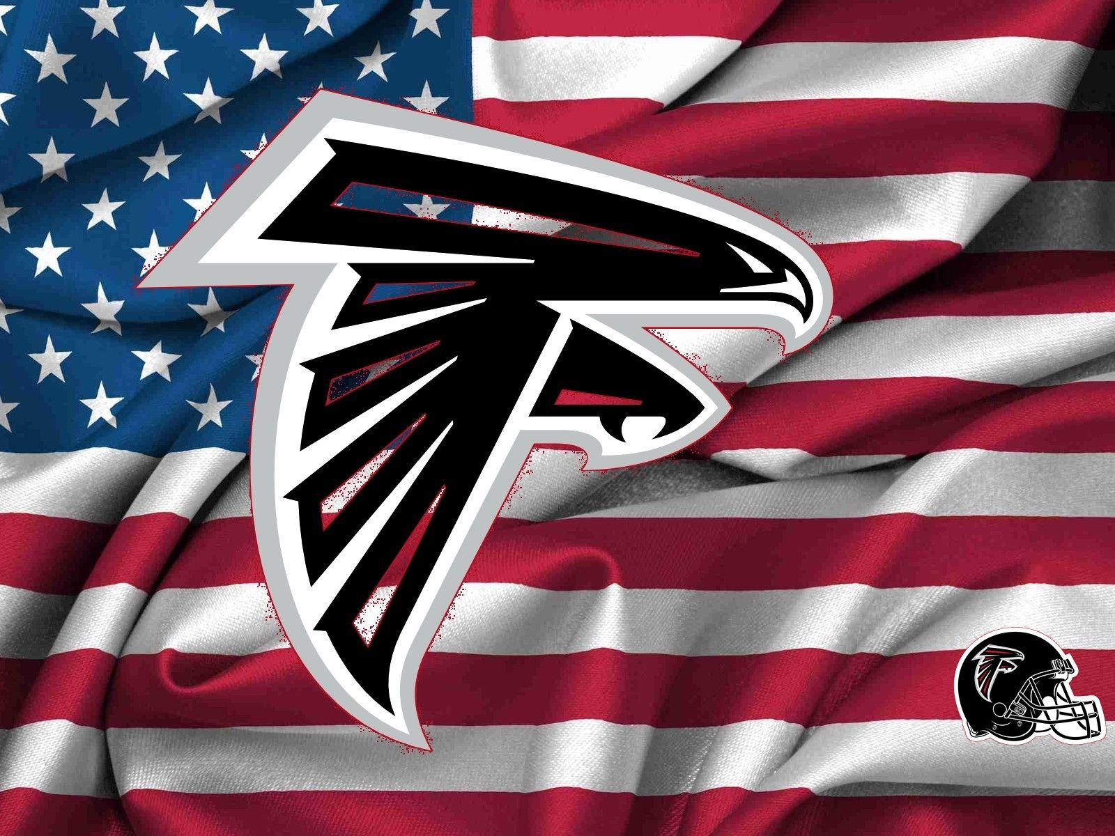 Atlanta Falcons Logo On Usa Flag 1600x1200 1063 Desktop Jpg 1600 1200 Atlanta Falcons Wallpaper Atlanta Falcons Logo Atlanta Falcons Art
