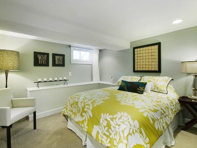 Basement Bedroom Design Bedroom Fresh Green Floral Themed Quilt Wood Bedside Basement