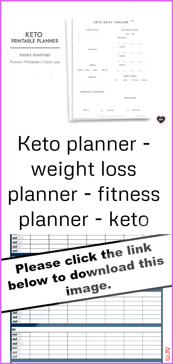 Keto planner  weight loss planner  fitness planner  keto printable  keto journal 1 Keto planner  wei...