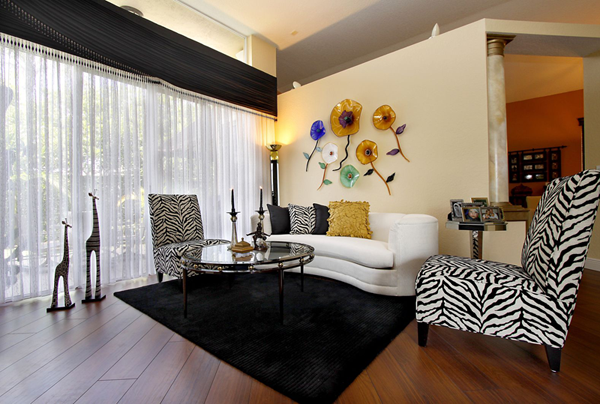 pinmaison matiere on decoration  zebra living room