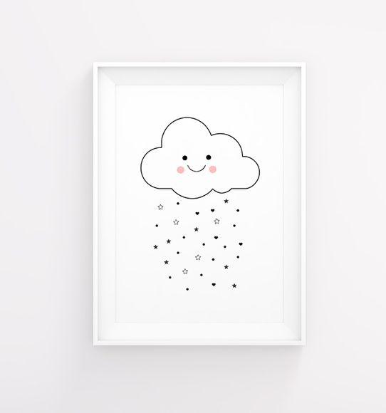 Arte decoração bebê nuvem