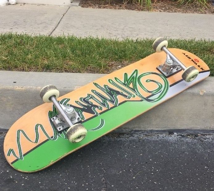 "Vintage Airwalk Classic Wooden Skateboard Graffiti Style Skate Artwork 32""  #AIRWALK"
