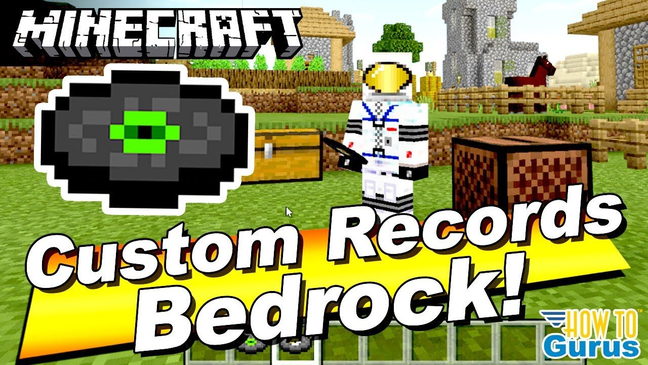 Minecraft Bedrock Change Record Music How To Make A Custom Music Disc Bedrock Records Minecraft