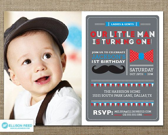 17 Best images about Carsonovas 1st Birthday Party – Boy First Birthday Invitation