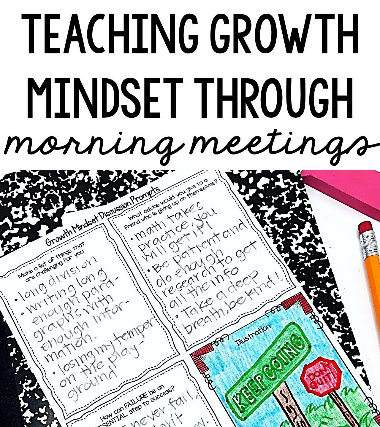 Growth Mindset Activities Free Morning Meeting Lesson