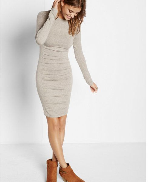 63e9b653 Express marled ruched sweater dress | Fashion | Dresses, Fashion ...