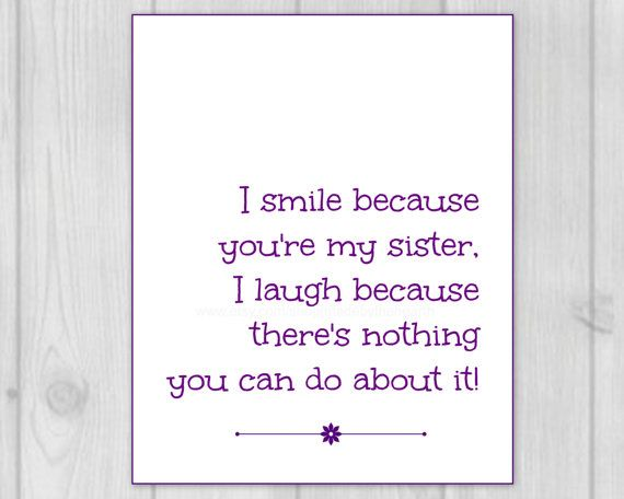 Sister Quotes Sister Gift 8x10 Art Print by MadeByTheHearth, $10.00