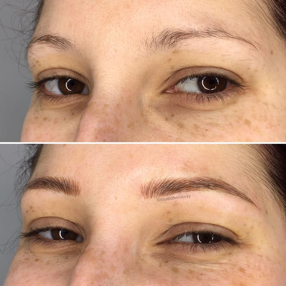 Microblading done at Cosmetic Tattoo Studio Holloway