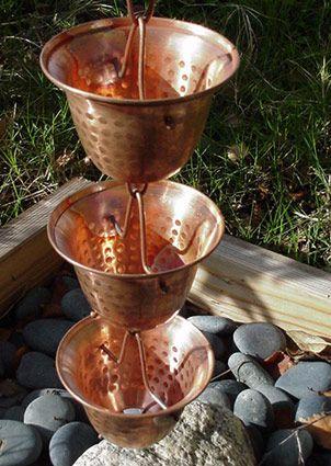 Copper Bell Rain Chains Rain Chain Copper Rain Chains Rain Chimes