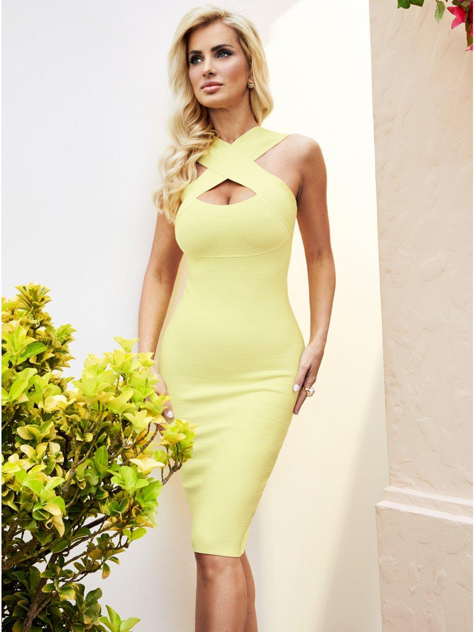 new products 070f1 c9979 Elegant bodycon dress by Guess Elegante vestido ajustado de ...