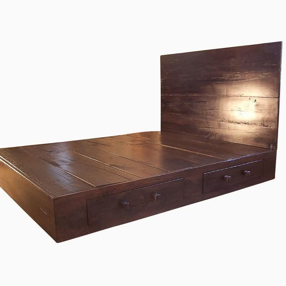 Portrayal Of Solid Wood Platform Bed Frame Design Selections